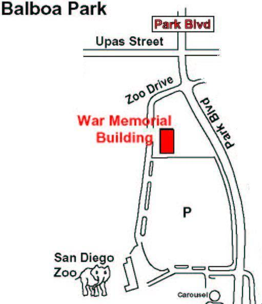 Map to War Memorial Building
